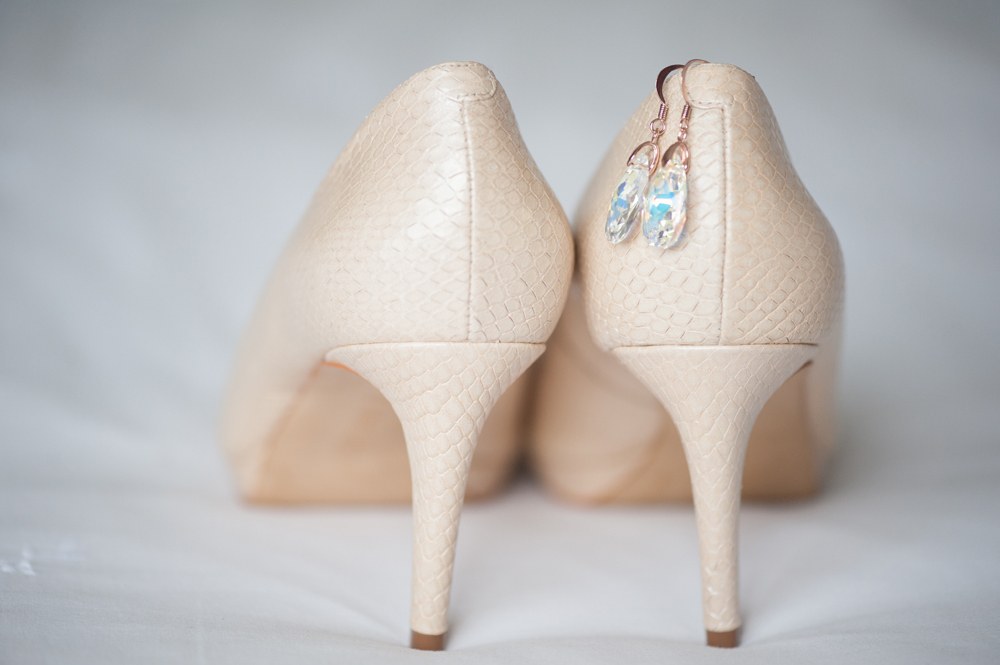Blush Wedding Shoes | Image: Tanya Jacobs