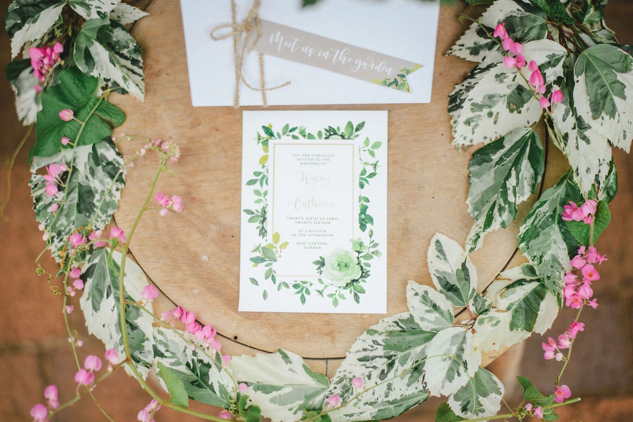 Secret Garden Invitation Suite | Credit: Oh Happy Day & Roxanne Davison