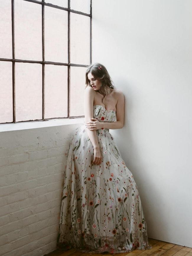 Embroidered Floral Wedding Dresses