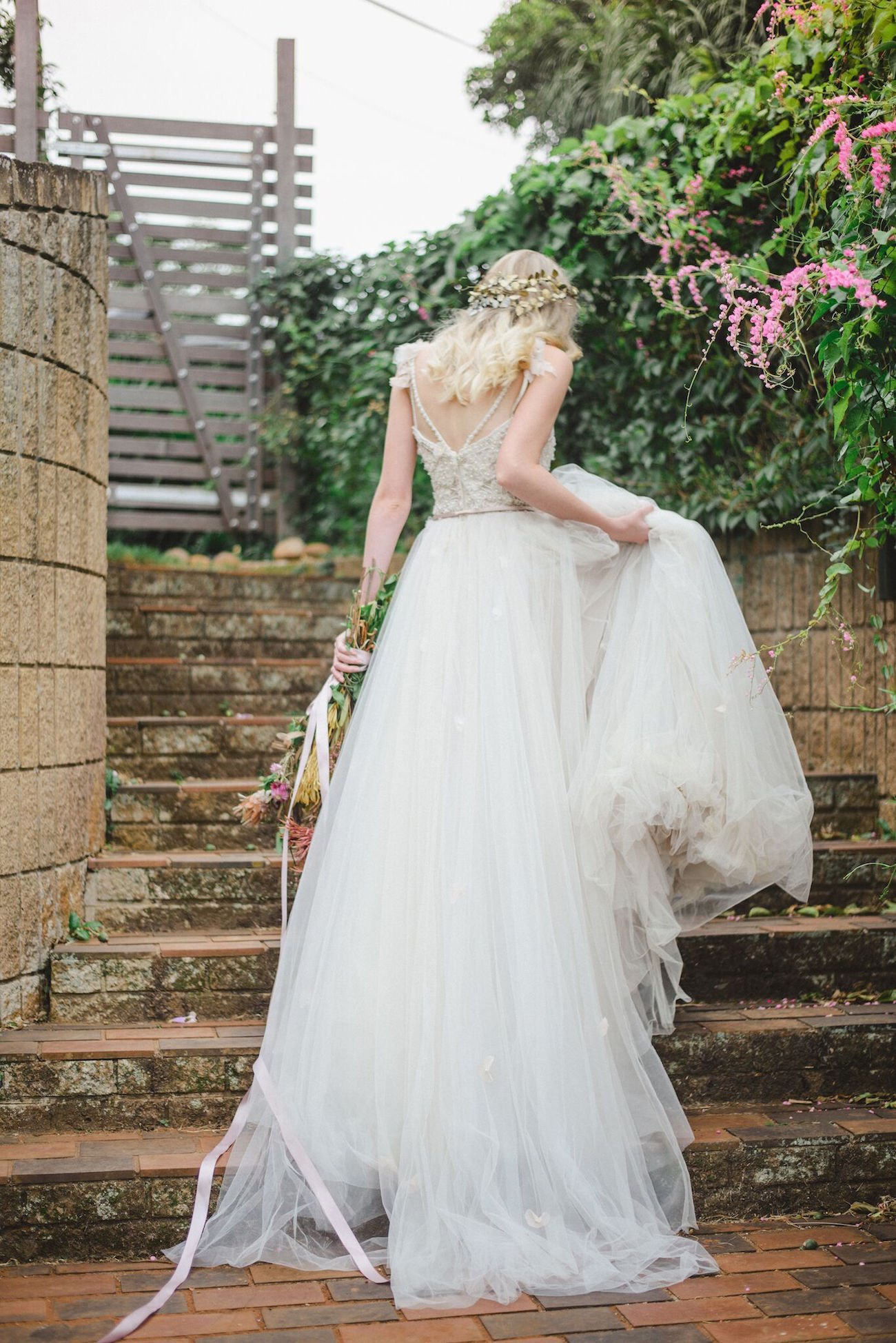 Tulle & Lace Wedding Dress | Credit: Oh Happy Day & Roxanne Davison