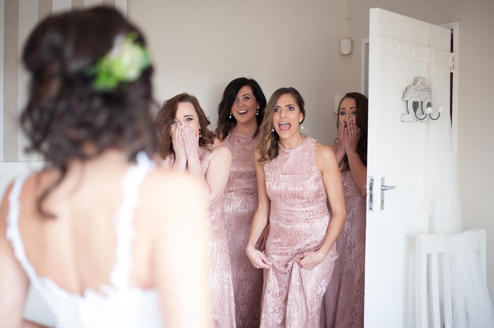 Bridesmaids Reaction to Wedding Dress | Image: Tanya Jacobs
