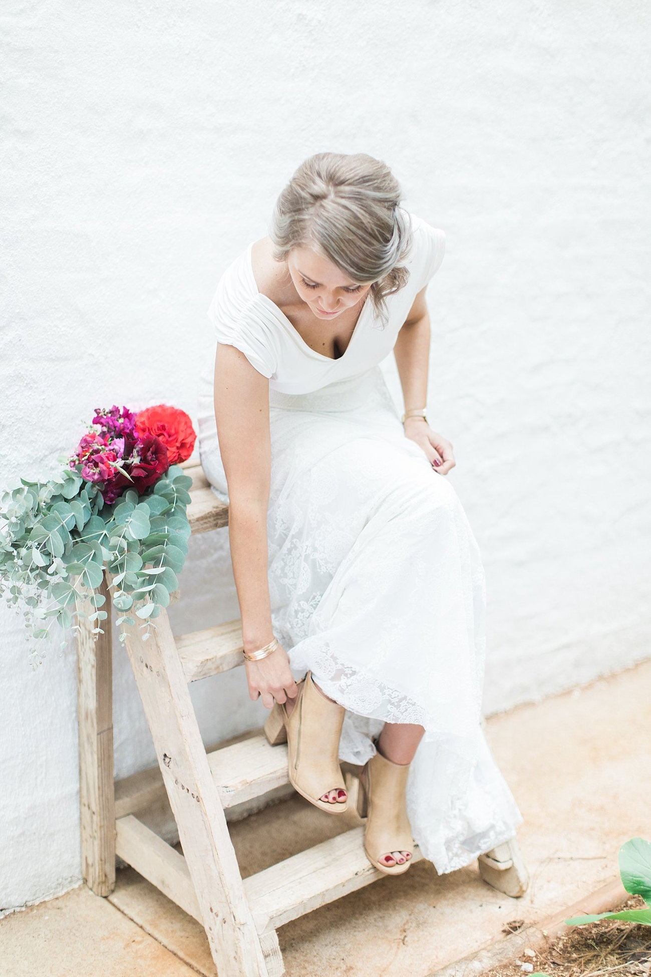 Bride with Booties | Image: Alicia Landman