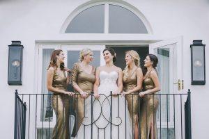 Glamorous Old Gold Wedding Dresses | Credit: Jani B & Bright and Beautiful