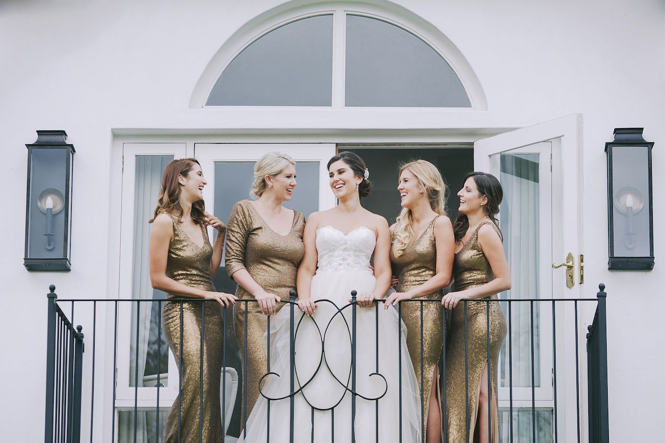 Glamorous Old Gold Wedding Dresses | Credit: Jani B & Bright and Beautiful