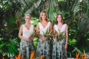 Tropical Bridesmaids | Credit: Oh Happy Day & Dane Peterson