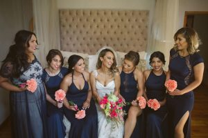 Navy Bridesmaid Dresses | Image: Moira West