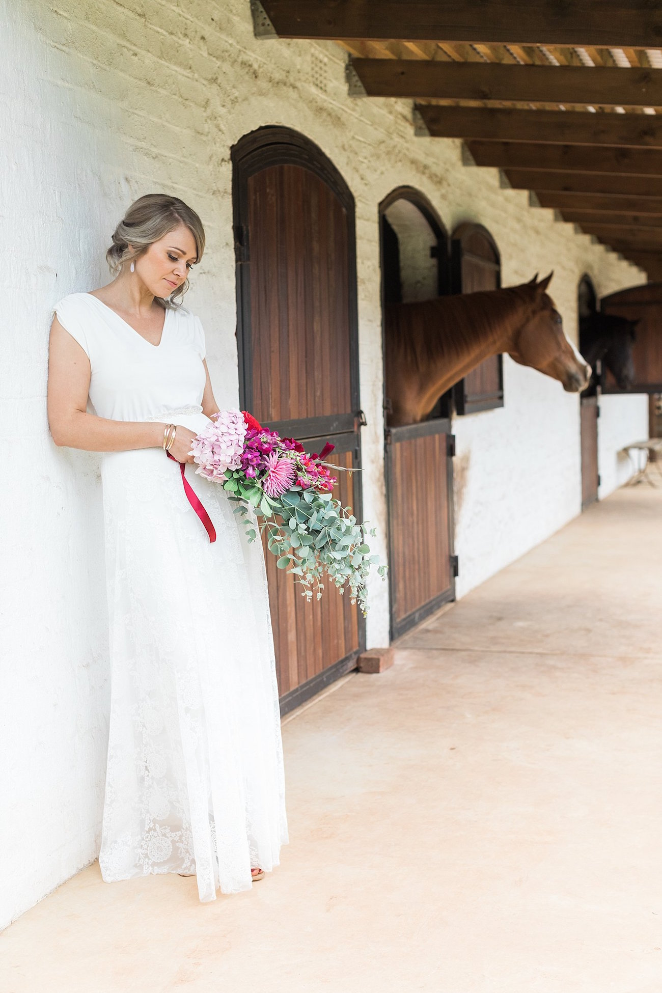 Bride at Stables | Image: Alicia Landman