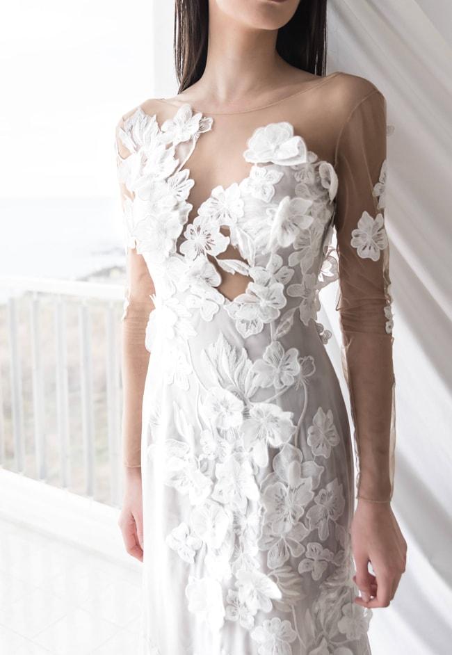 3D Floral Applique Bridal Dresses