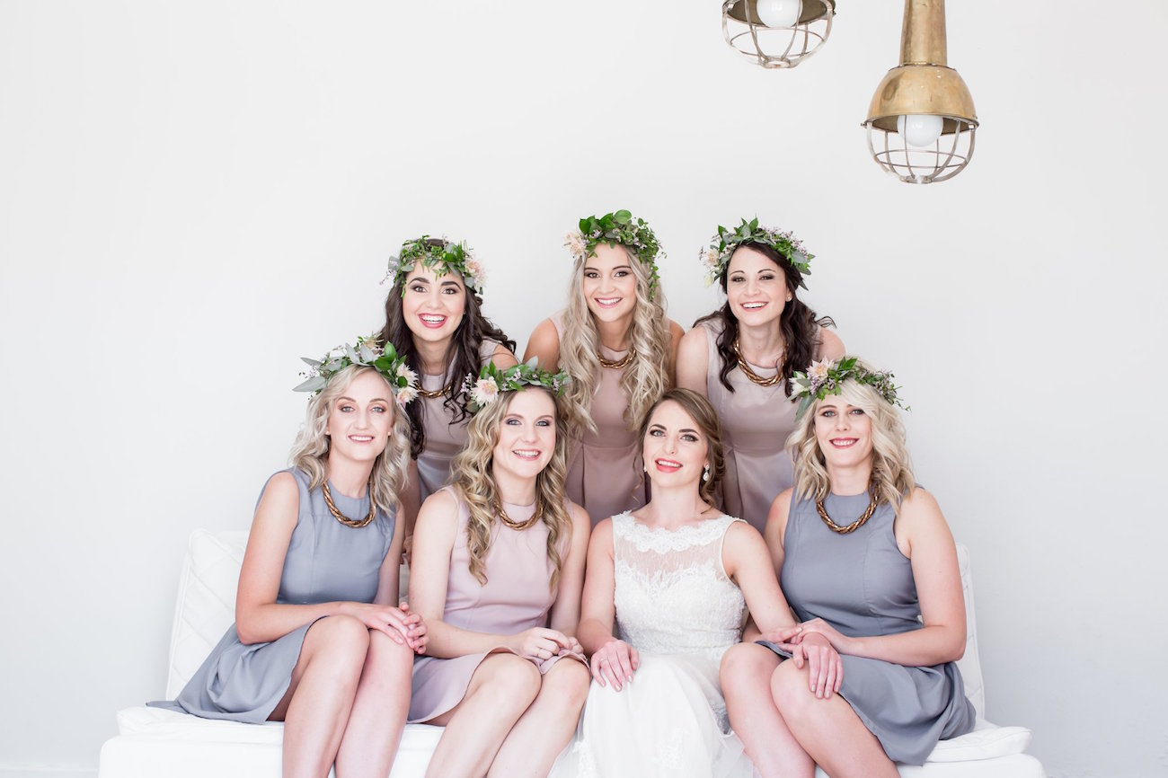 Grey and Blush Bridesmaid Dresses | Image: JCclick