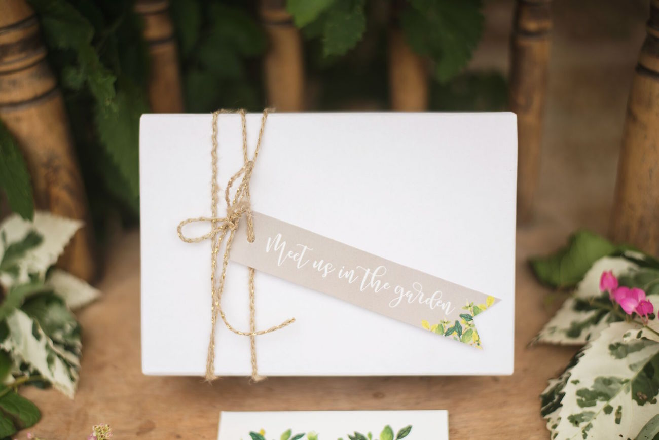 Meet Us In the Garden Tag | Credit: Oh Happy Day & Roxanne Davison