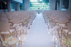 White Orchid Ceremony Decor | Image: Wynand van der Merwe
