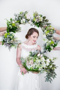 Bride with Greenery Bouquets | Image: JCclick