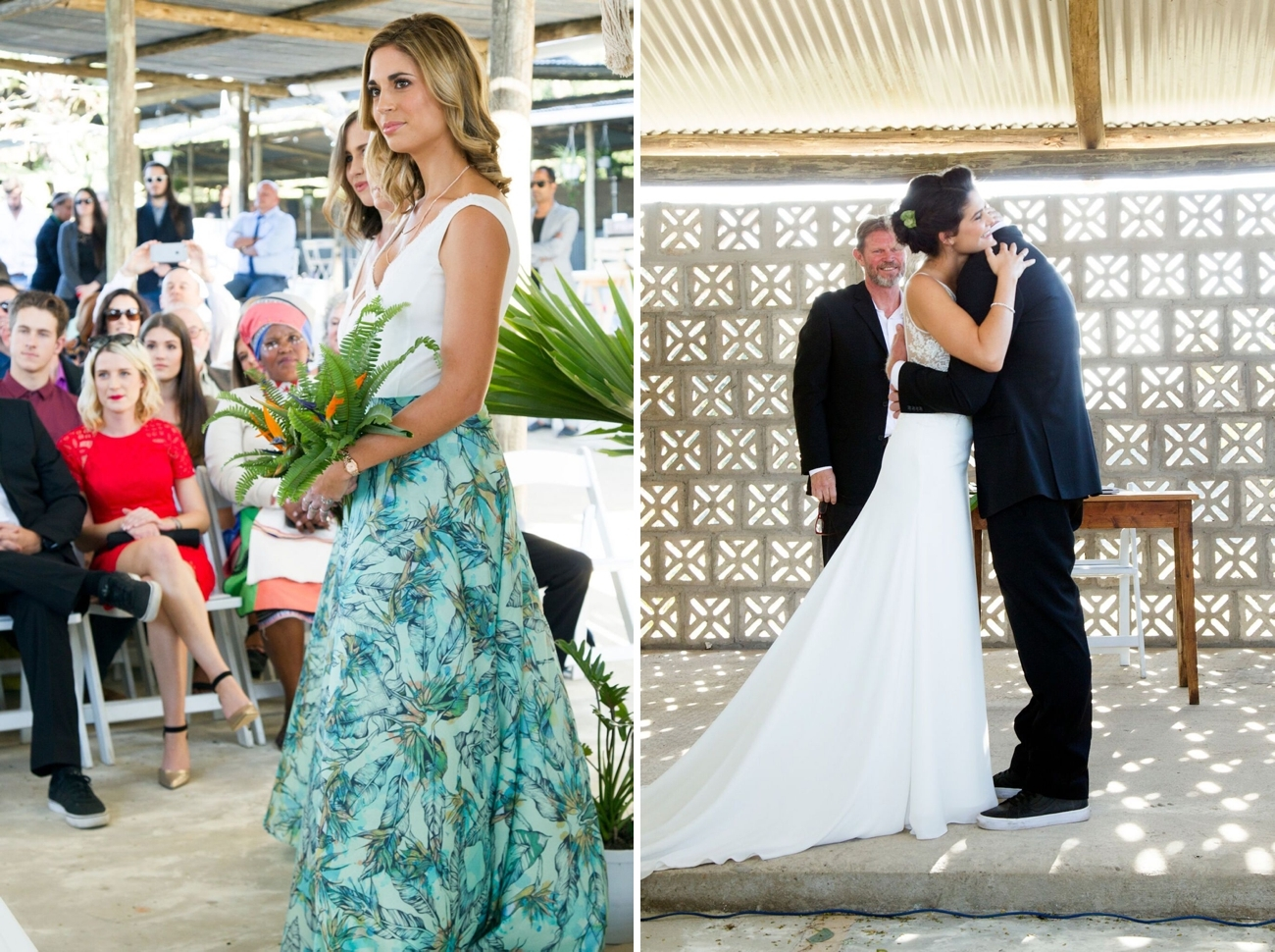 Durban North Coast Tropical Chic Wedding Ceremony | Credit: Oh Happy Day & Dane Peterson
