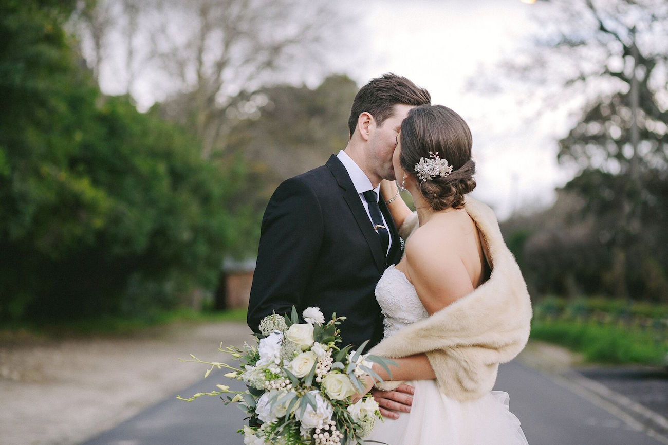 Bride with Kathleen Barry Hairpiece   Credit: Jani B & Bright and Beautiful
