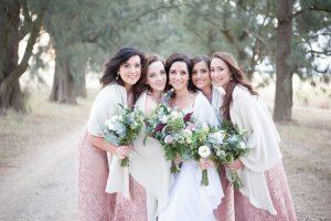 Winter Bridesmaids | Image: Tanya Jacobs