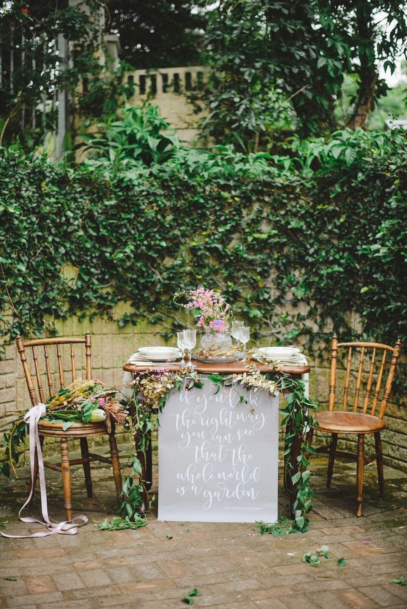 Secret Garden Wedding Table | Credit: Oh Happy Day & Roxanne Davison