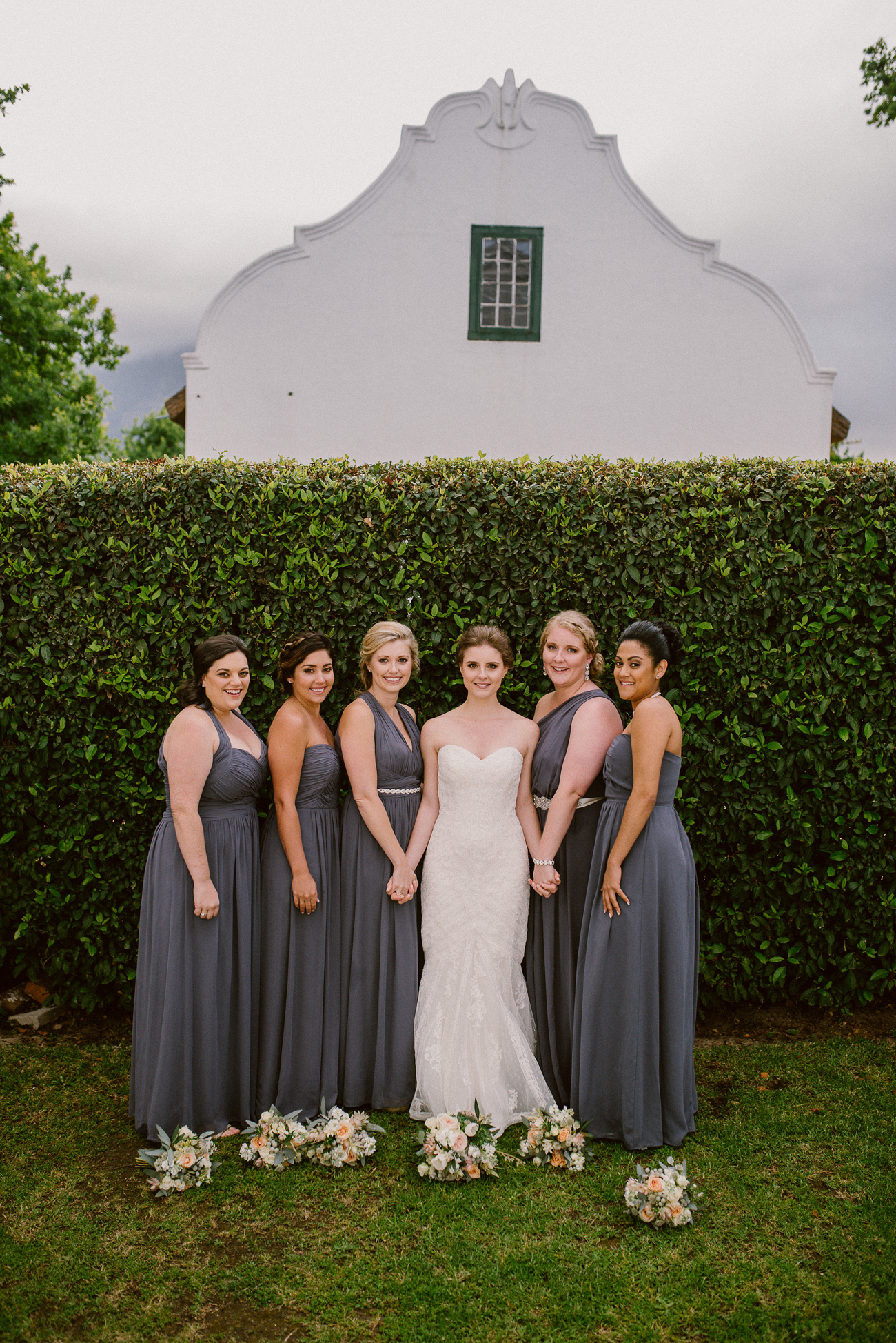 Bridesmaids in Grey | Image: Lad & Lass Photography