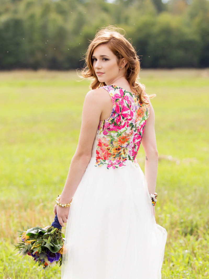 Wedding Dresses With Flowers On Them