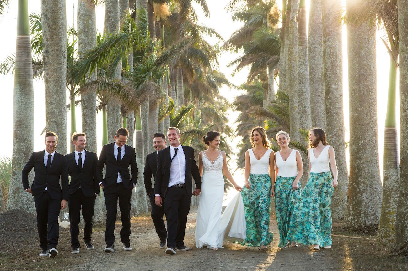 Bridesmaid Separates in Tropical Print | Credit: Oh Happy Day & Dane Peterson