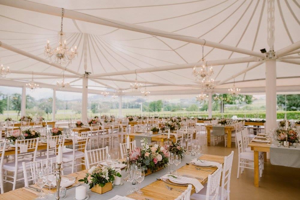 Chic Vineyard Wedding Reception | Image: Lad & Lass Photography