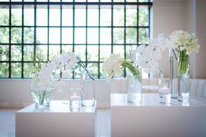 White Orchid Modern Wedding Flowers | Image: Wynand van der Merwe