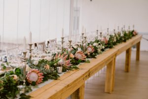 King Protea Floral Runner | Image: Lad & Lass Photography