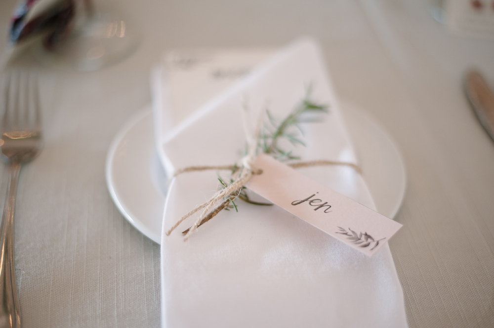 Place Setting with Rosemary Sprig | Image: Tanya Jacobs