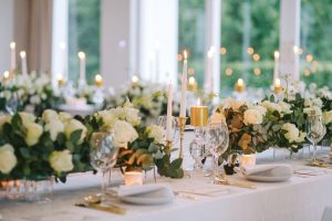 Vintage Glamour Winter Wedding Tablescape | Credit: Jani B & Bright and Beautiful