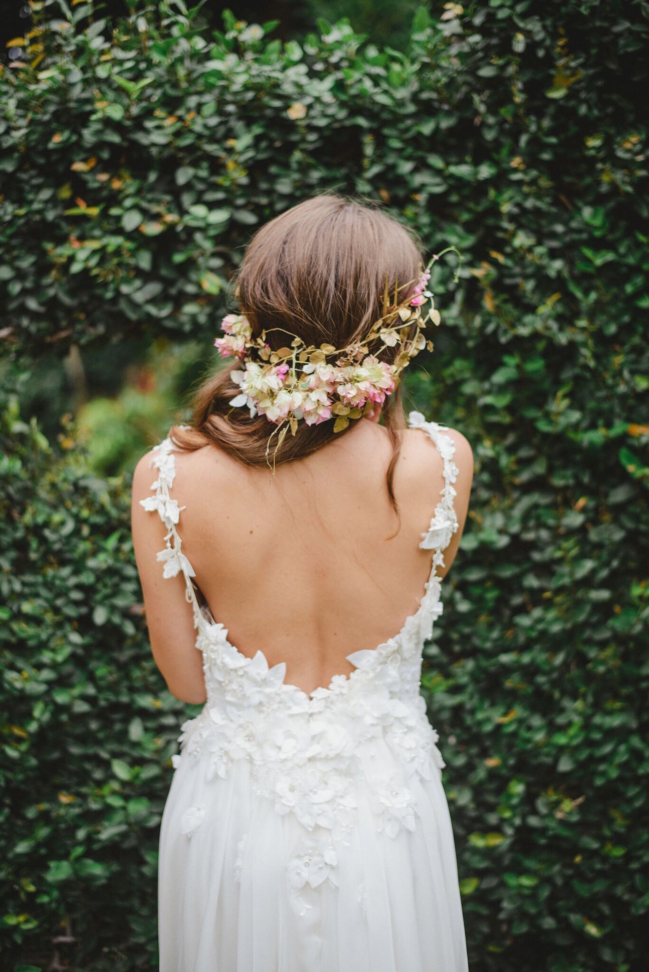 Floral Wedding Dress by McCarthy Wolff | Credit: Oh Happy Day & Roxanne Davison
