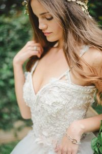 Lace Bodice Wedding Dress by McCarthy Wolff | Credit: Oh Happy Day & Roxanne Davison