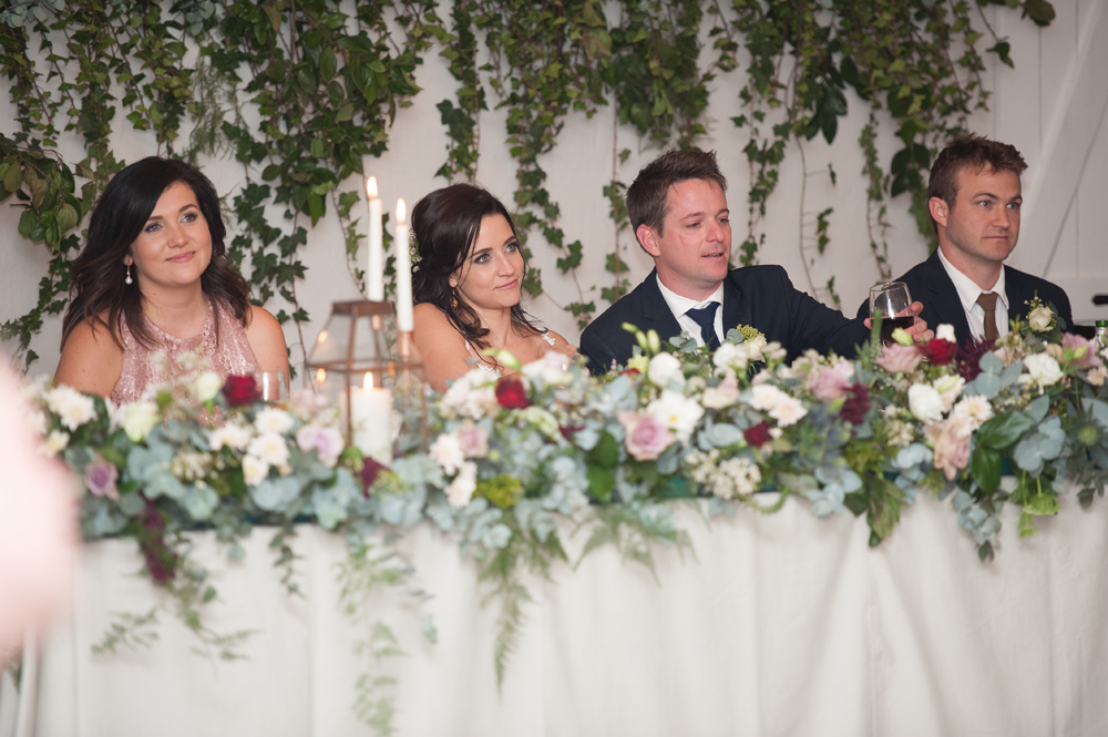 Romantic Rose Gold Farm Wedding Reception | Image: Tanya Jacobs