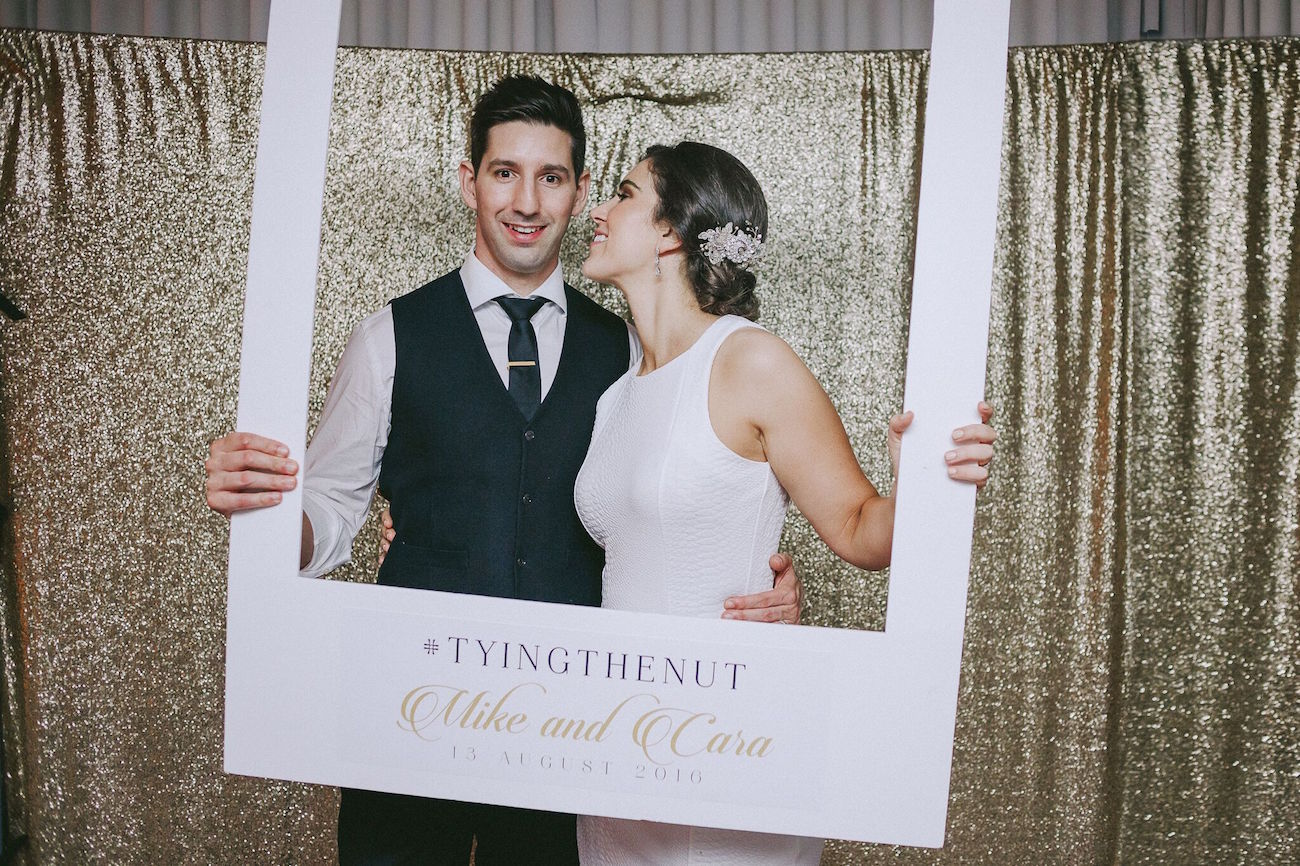 Gold Sequin Photobooth | Credit: Jani B & Bright and Beautiful