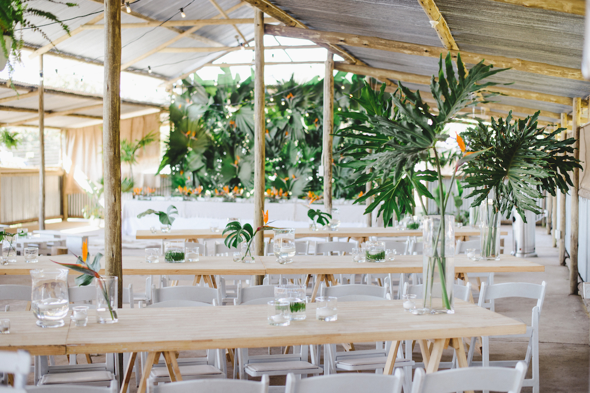 Durban North Coast Tropical Chic Wedding Reception | Credit: Oh Happy Day & Dane Peterson