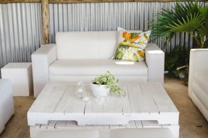 Tropical Lounge Area | Credit: Oh Happy Day & Dane Peterson