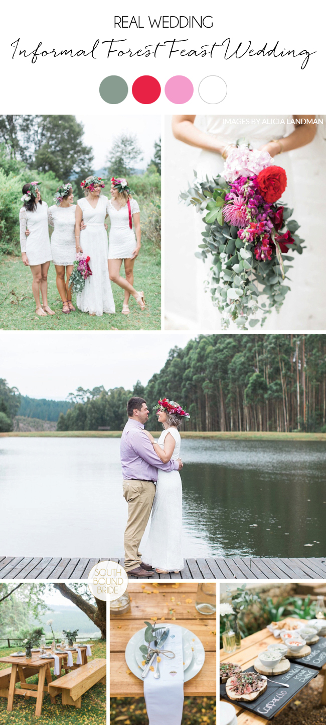 Informal Forest Feast Wedding