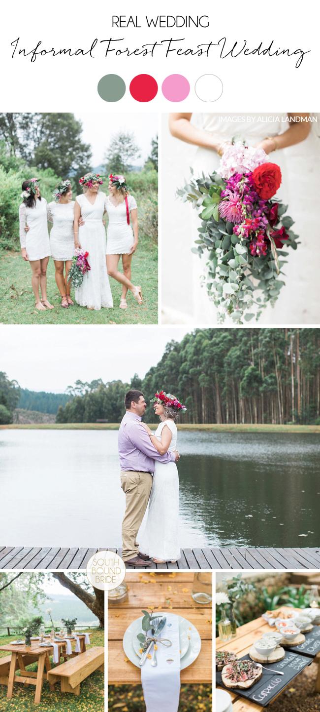 Informal Forest Feast Wedding
