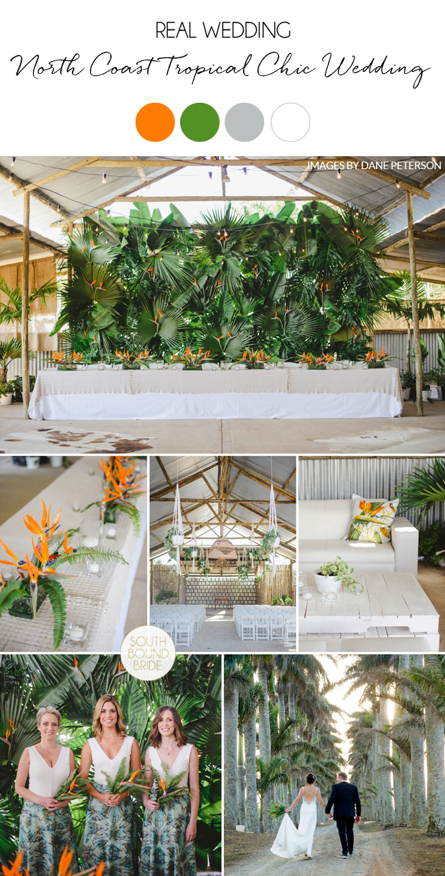 North Coast Tropical Chic Wedding on SouthBound Bride