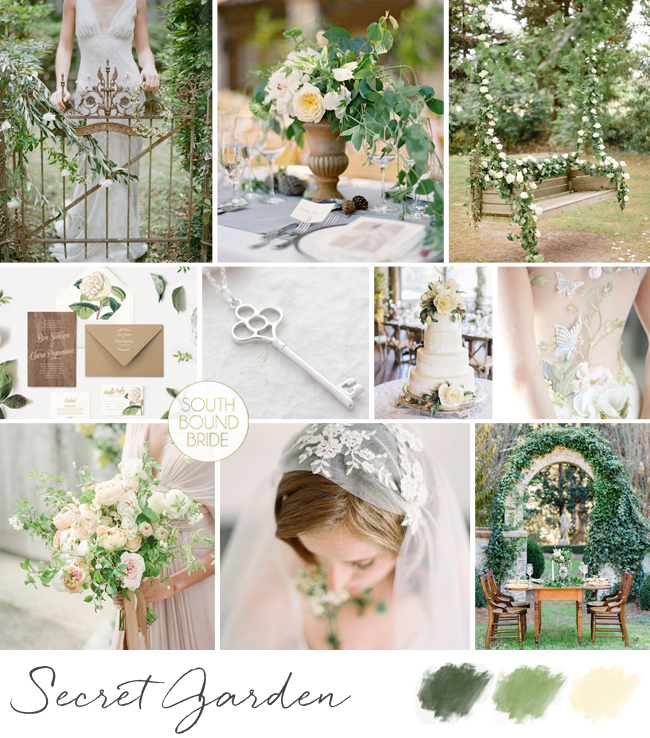 Secret Garden Inspiration Board | SouthBound Bride