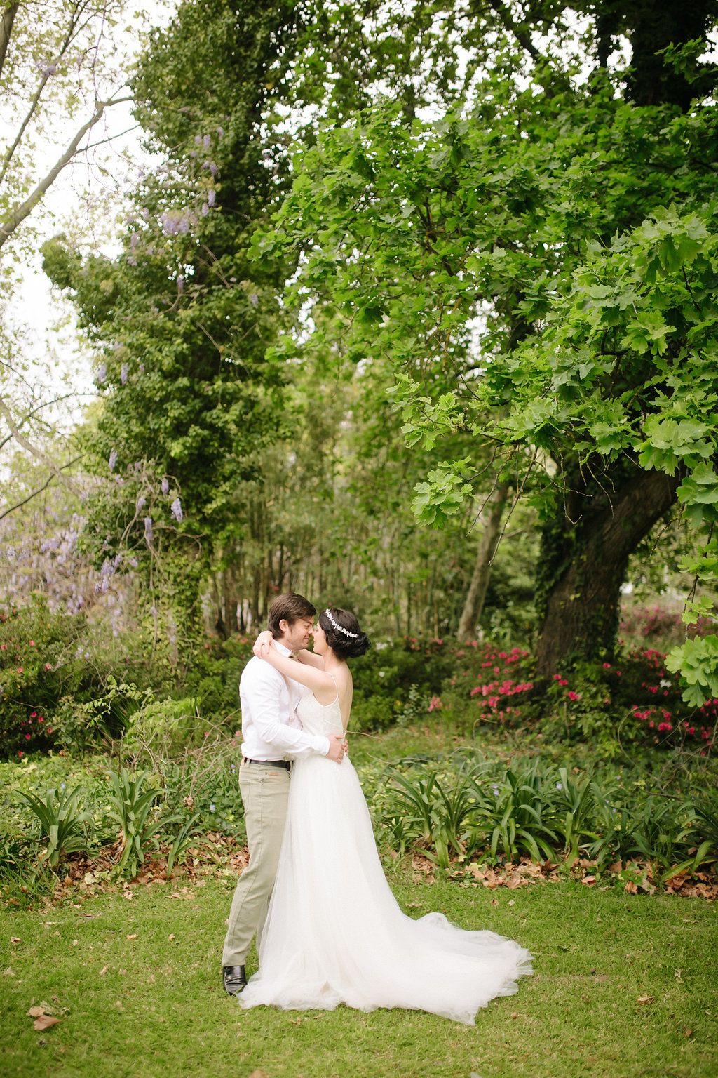 Bride and Groom in Secret Garden | Image: Nelani Van Zyl
