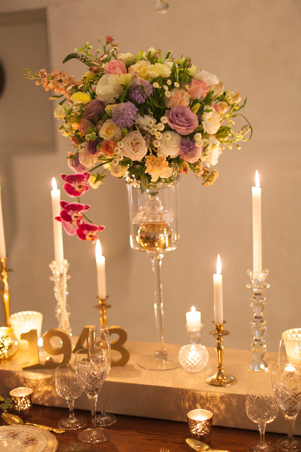 Tall Floral Centerpiece | Image: Nelani Van Zyl