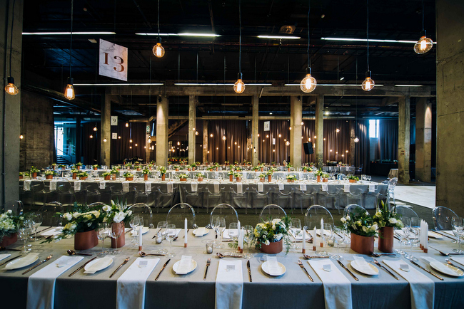Turbine hall wedding