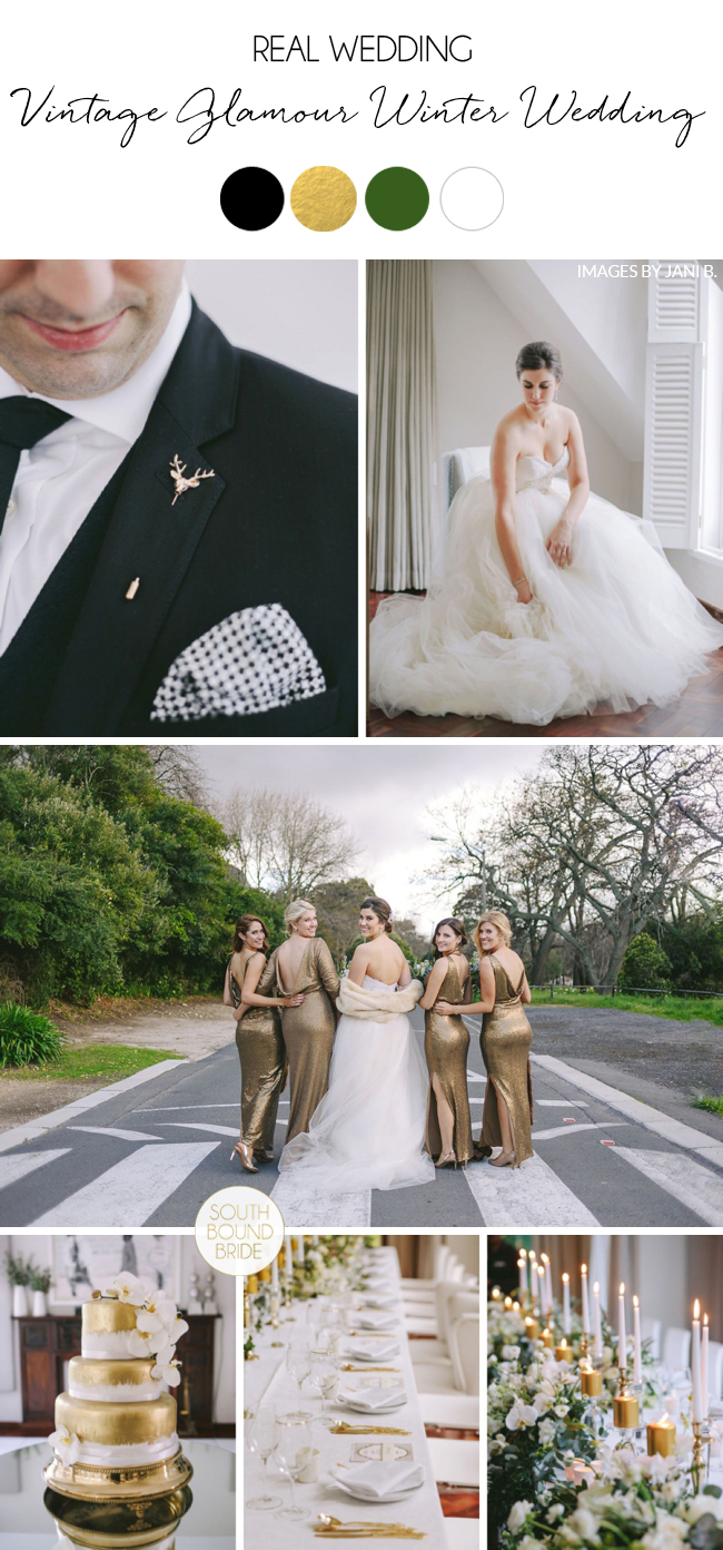 Vintage Glamour Winter Wedding by Jani B. | SouthBound Bride