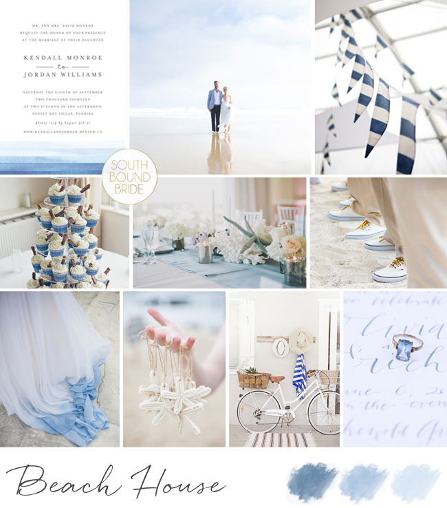 Beach House Wedding Inspiration Board | SouthBound Bride