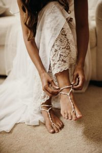 Barefoot Sandals for Beach & Boho Brides