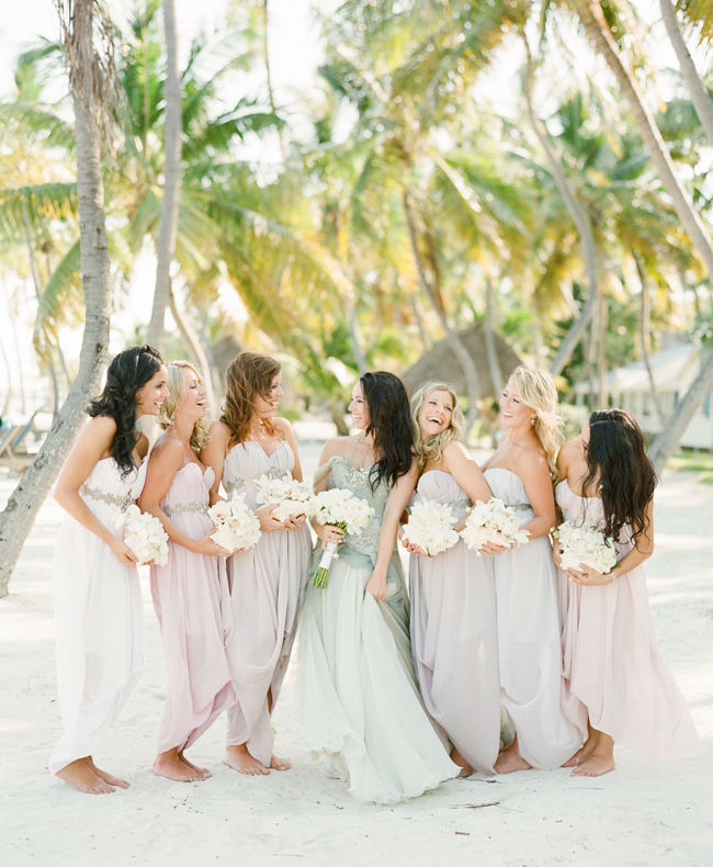 Mixed Pastel Bridesmaid Dresses for Beach Wedding