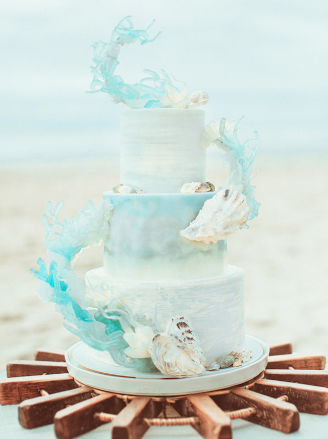 20 Elegant Beach Wedding Cakes Southbound Bride