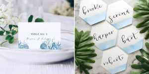 Beach Wedding Escort Card & Place Card Ideas