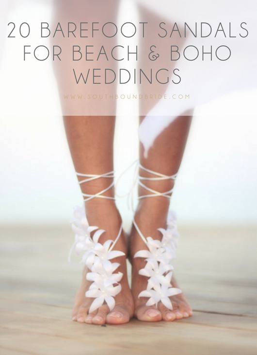 20 Barefoot Sandals from Etsy | SouthBound Bride