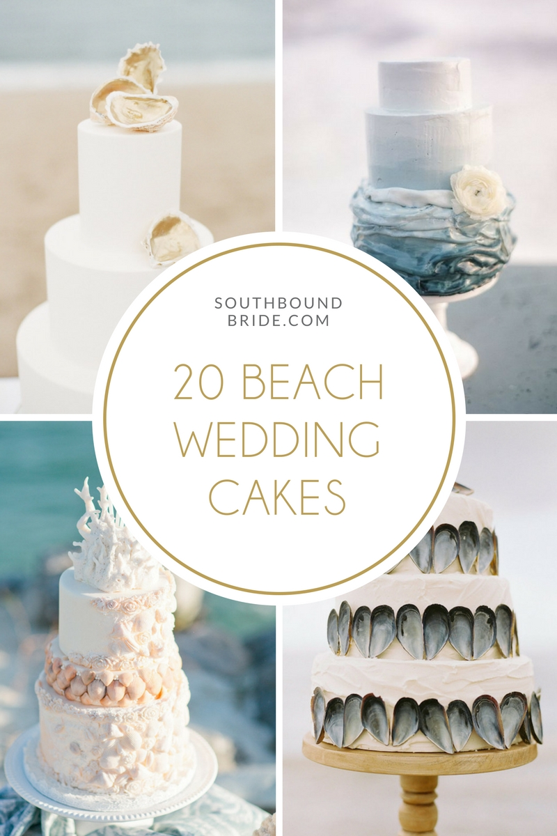 20 elegant beach wedding cakes southbound bride when it comes to beach weddings ive got to tell you i have seen a lot of cheesy cakes which is a pity because a beach wedding definitely doesnt have junglespirit Choice Image