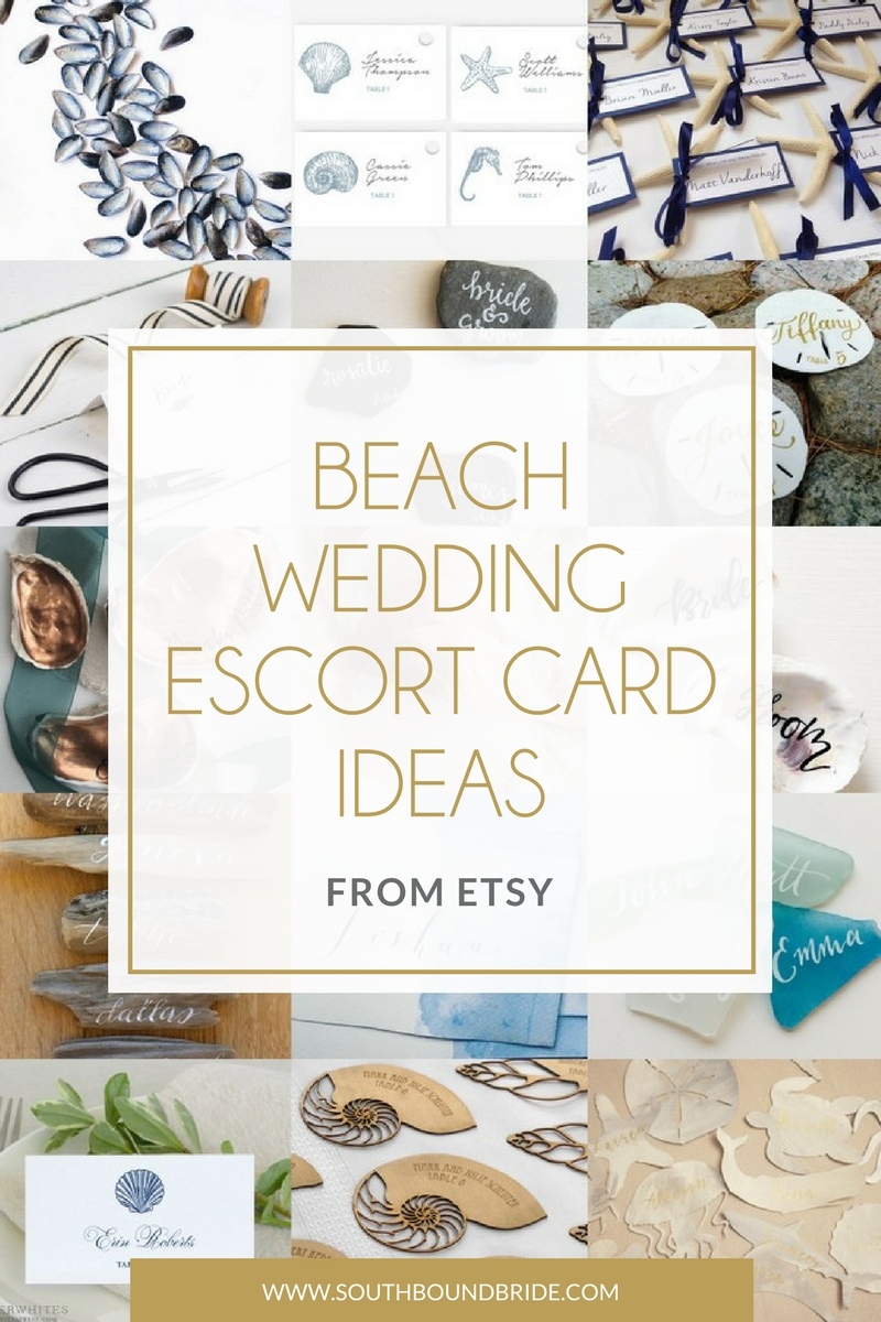 Beach Wedding Escort Card Ideas from Etsy | SouthBound Bride